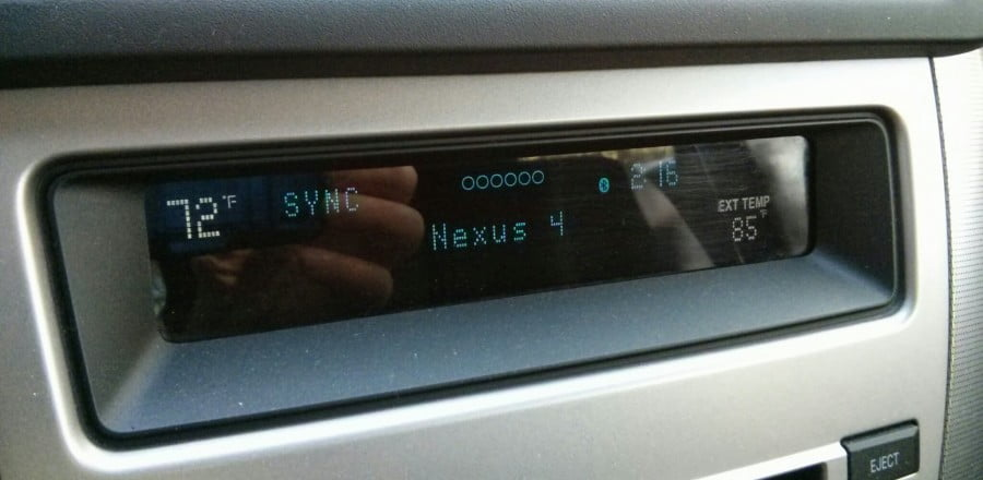 Ford Sync and Bluetooth Audio